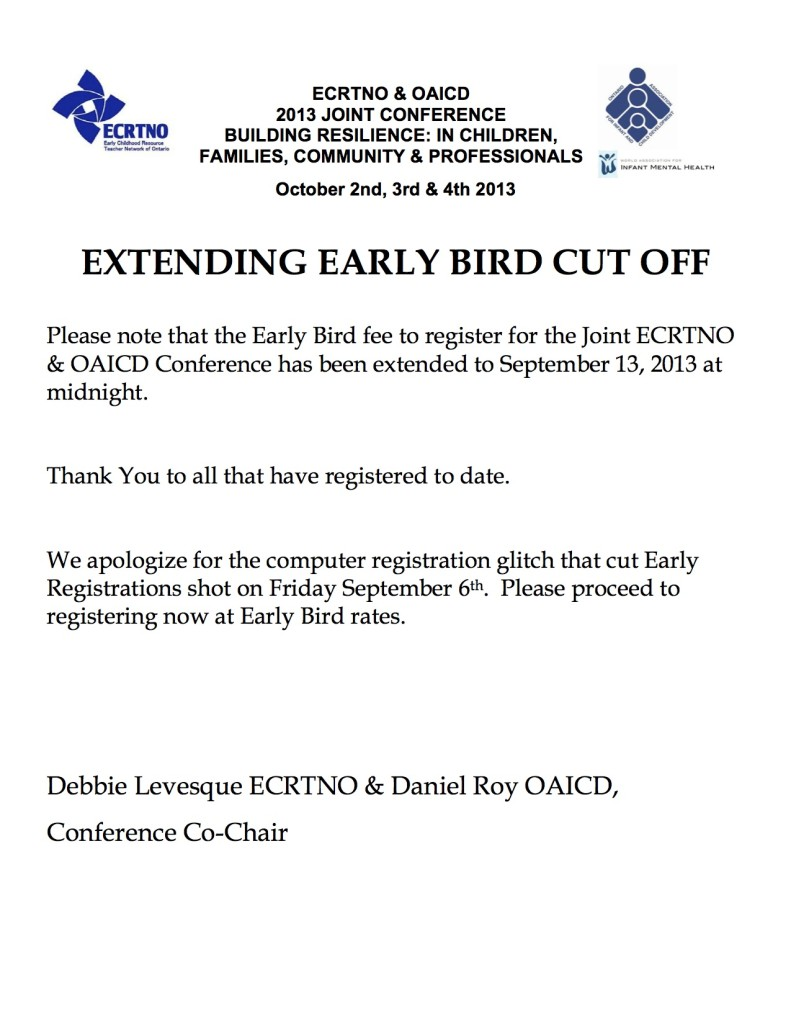 Early Bird extension copy